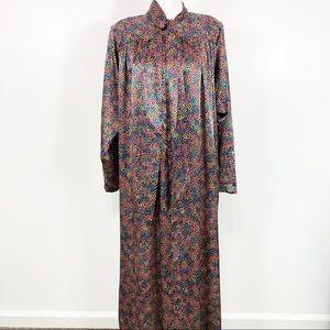 Vintage Christian Dior Colorful Half Zip Robe M